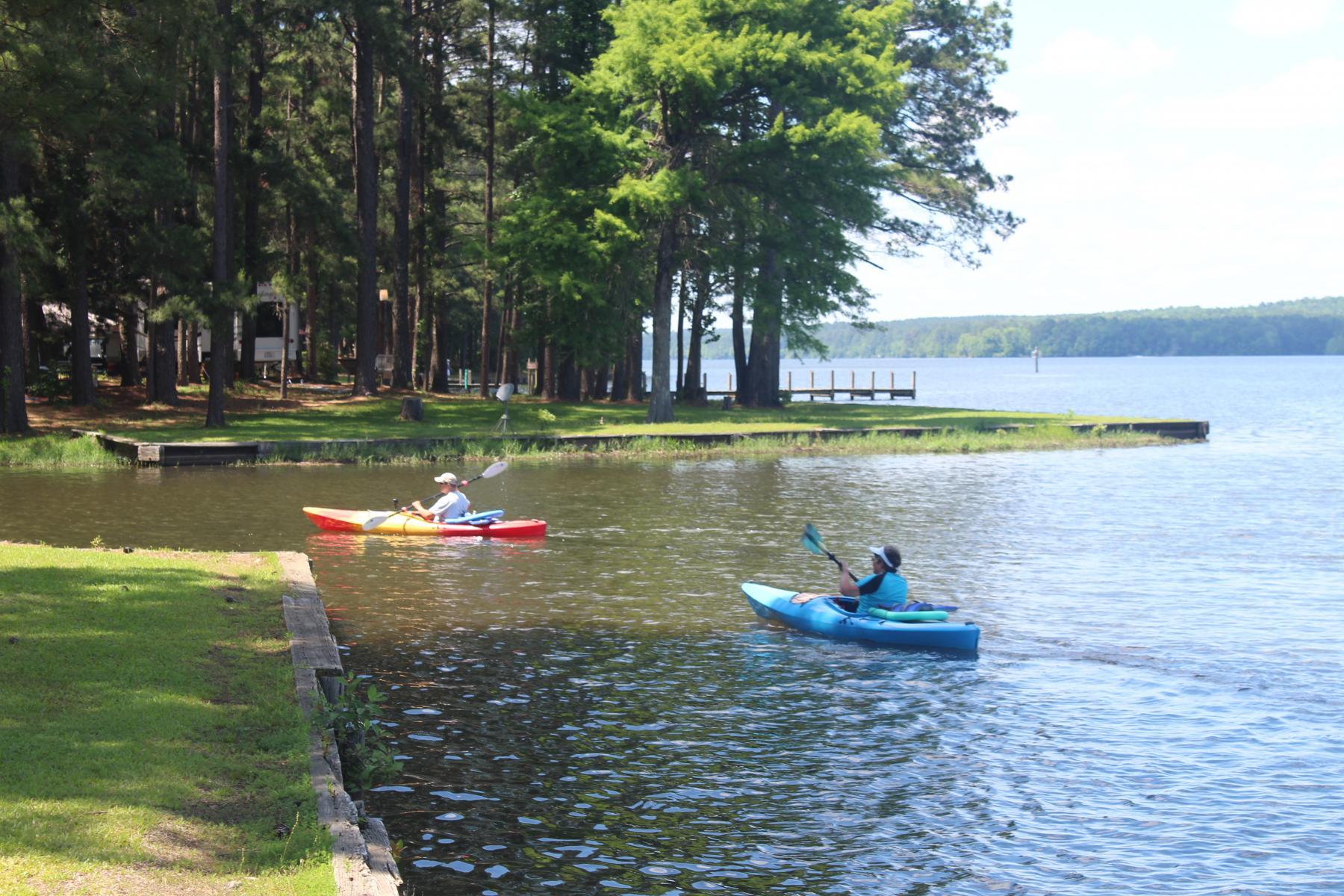 kayaking at lake claiborne